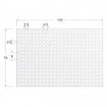 ONCYTE® NOVA 384- 2.5mm X 2.5mm  NC Square Pads for Microtiter Plate Glass Substrate, 74 x 110 x 1mm - SKU: 505384 - EACH