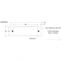 HBW HybriWell™ 1-21mm X 60mm X 0.14mm Depth, 300UL Approx. Vol., 25mm X 75mm OD, SecureSeal™ Adhesive Chamber, 3.2mm Diameter Ports, 200 Port Seals Included - SKU: 440904 - 100 PACK